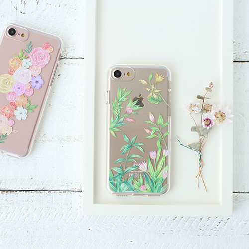 Flower Jelly clear case - iPhone7